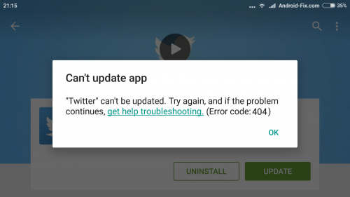 """How to fix """"Error code 404"""" in Google Play Store"""
