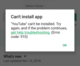 "How to fix ""Error code 910"" in Google Play?"