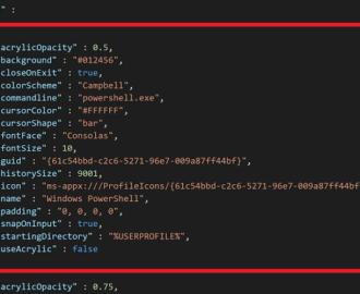 Add custom command line in Windows Terminal