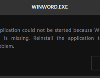 Fix WinWord.exe errors