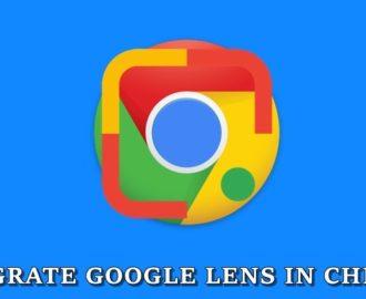 lens integration chrome cover