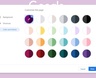Chrome Color Theme