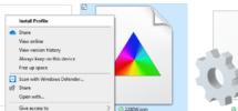 Install ICM color profile in Windows 10