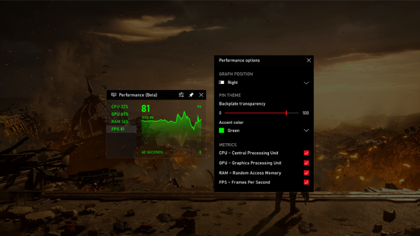 Frames Per Second (FPS) counter on Windows 10