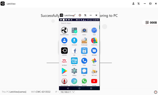 Mirror or Cast Android or iPhone to Windows 10 using LetsView