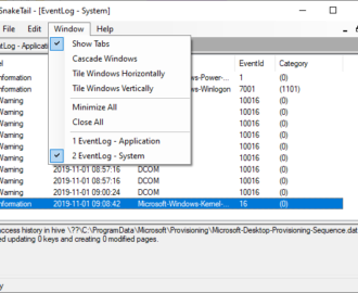 Monitor Windows Event Log Files Checking with SnakeTail Windows tail utility