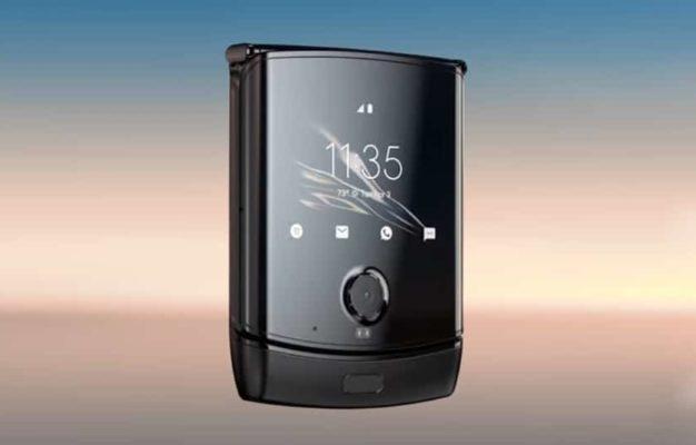 Motorola razr front screen