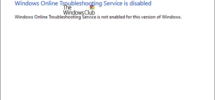 Windows Online Troubleshoot Service is disabled