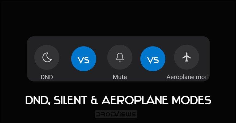 dnd silent aeroplane modes