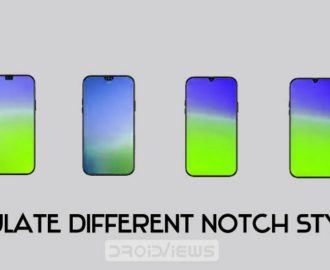 display notch styles