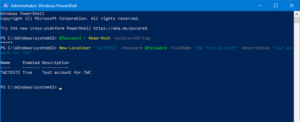 How to create Local User Account using PowerShell in Windows 10