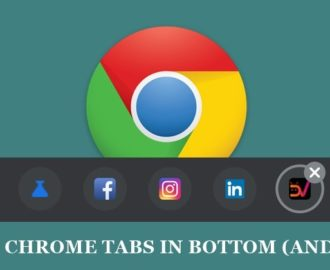 Place All Chrome Tabs in the Bottom Bar on Android