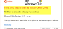 Stop, you should wait to install Office 2016