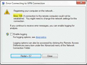 VPN Error 720