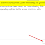 Office document cache