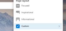 Change New Tab Page Layout in the new Microsoft Edge