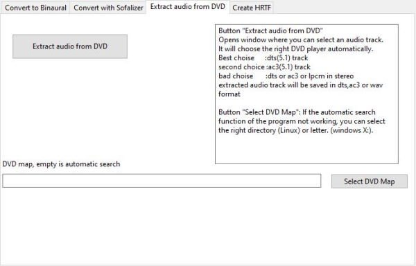 How extract audio from DVD with DVDtoHP for Windows 10