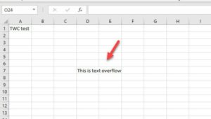 How to prevent Text Overflow in Excel