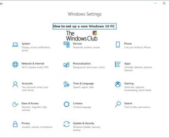 How to set up & configure a new Windows 10 computer