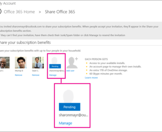 How to share your Office 365 subscription with friends and family