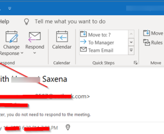 Outlook Meeting Response Options are not visible for Invite