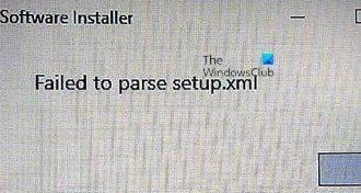 Failed to parse setup.xml – Intel Software Installer error