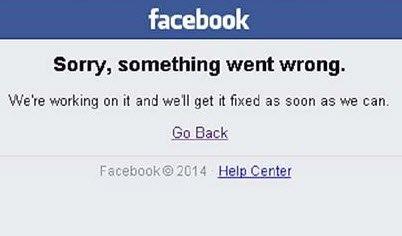 Sorry, something went wrong – Facebook login error