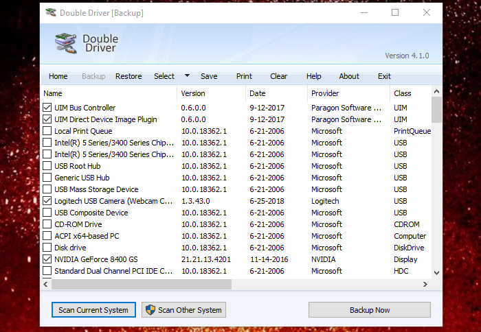Free Driver Backup and Restore software for Windows 10