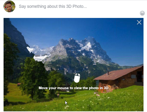 How to create and post a 3D Photo on Facebook using PC