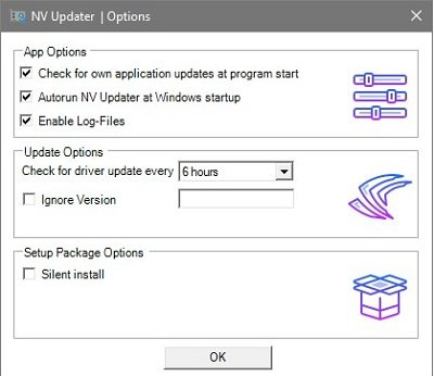 NV Updater will keep NVIDIA Graphic Card Driver updated on Windows 10
