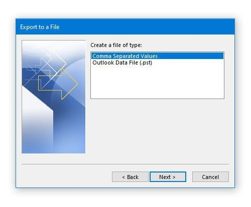 How to export Outlook Calendar in CSV file on Windows 10