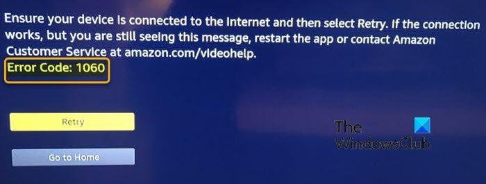 How to fix Amazon Prime Video error codes 1060 and 9074