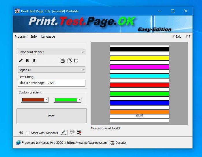 How to print test a page to test your printer in Windows 10