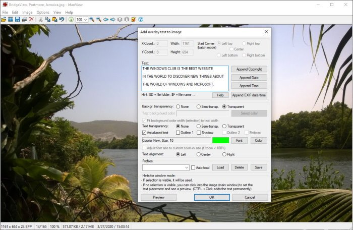 IfranView Image Viewer and Editor software for Windows 10