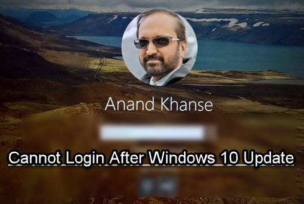 Cannot log into Windows 10 after Update