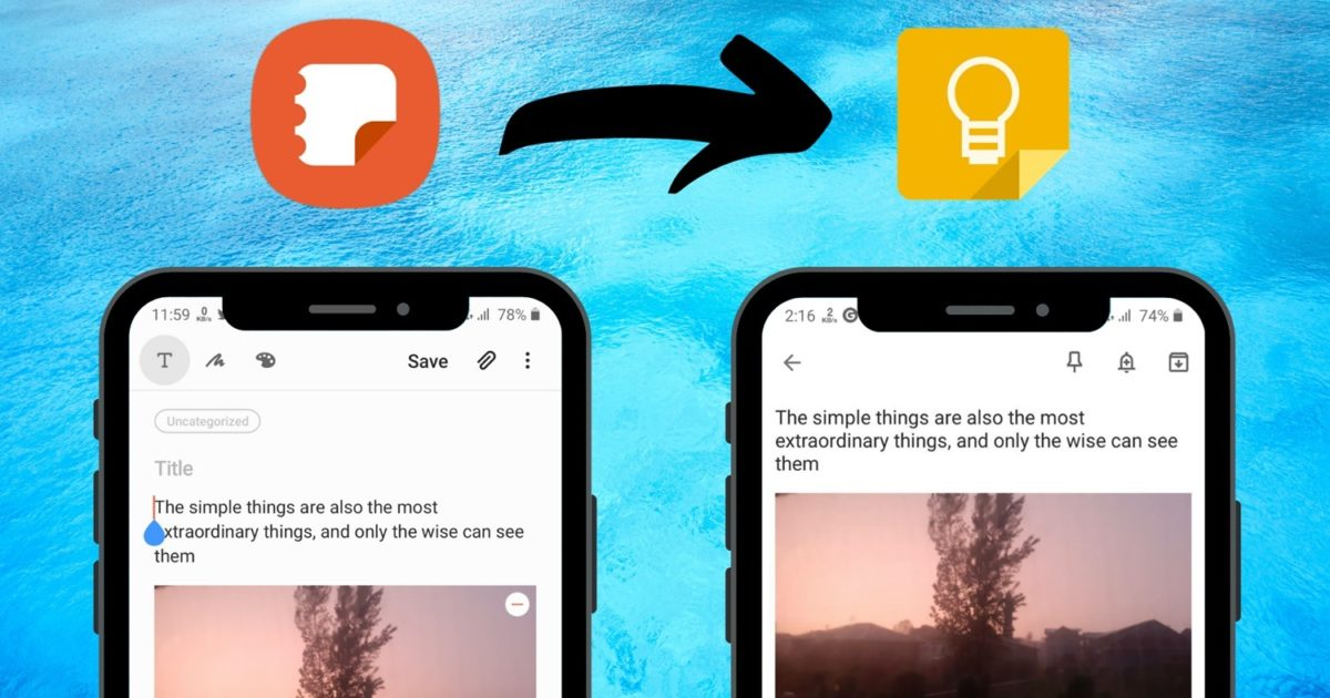 How to Transfer Samsung Notes to Google Keep