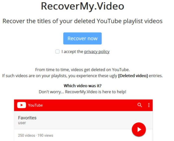 How to find out the title of a deleted video on YouTube