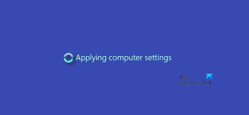 Windows Server stuck at Applying Computer Settings screen