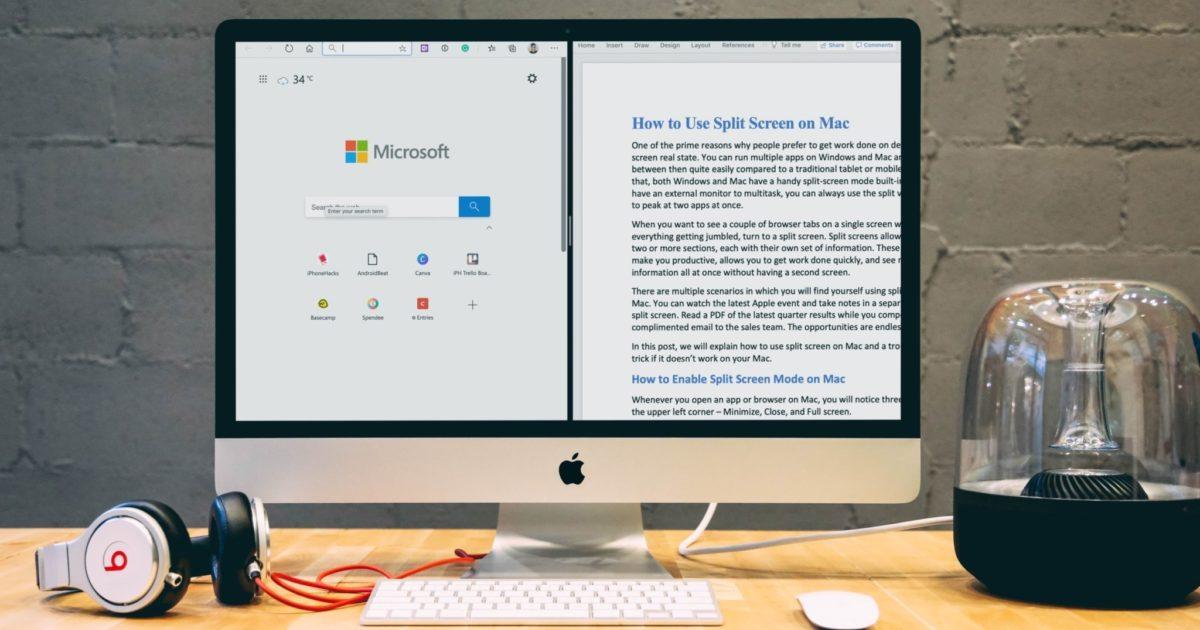 How to Use Split Screen on Mac